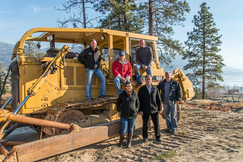 Photo caption: Pre construction activity on Skaha Hills' vineyard
