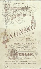 1880 Photographic Studio E.& J.Lauder Dublin Ireland (Urbanwear) Tags: vintage typography ephemera printing font lettering fonts letterheads vintagetypography billheads printingindustry commercialdocuments