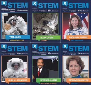 X-STEM Extreme STEM Symposium scientist trading cards