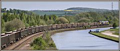 The one that got away... (david.hayes77) Tags: canal fishing fisherman yorkshire shed pylon freight southyorkshire theonethatgotaway 2016 class66 swinton swanagerailway gbrf 66741 6m35 sheffieldsouthyorksnavigation