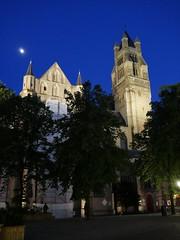 Brgge Kathedrale St. Salvator (wulfwalker) Tags: nacht brugge kathedrale kirche architektur belgien blauestunde brgge kathedralestsalvator