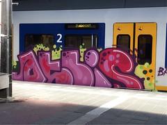 In traffic (Pictures? stuurjetroepnaarmij@yahoo.nl) Tags: graffiti zuidoost trainart paintedtrain benchin
