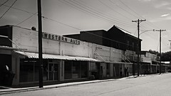 Downtown Tallulah, Louisiana (Pete Zarria) Tags: old signs abandoned louisiana decay lonely smalltown westernauto commercialblock