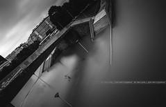 Paris Underwater June 2016 (A-lain W-allior A-rtworks) Tags: white black paris france tower water monochrome seine river nikon eau noir underwater tour under eiffel rivire nb nikkor sec blanc height innondation hausmann fleuve crue quais 2016 actualit innond submerg affluents