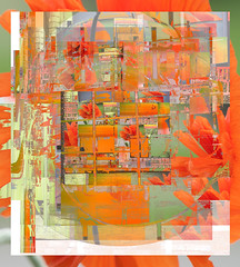 Orange You Glad (Karen McQuilkin) Tags: abstract art quilt orangeyouglad karenmcquilkin