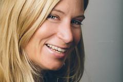 Nicole (Michael  Hunter) Tags: wwwmichaeljhuntercom nikon d800 85mm f14g lens strobist studio female model blond smile vsco vscofilm