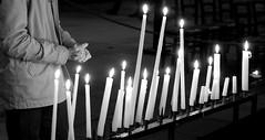 Prier, penser, esprer un monde plus beau (Et si, et si ...) Tags: monochrome orlando bougies lumires ddicace attentat
