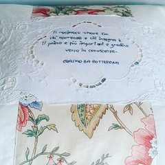 IMG_20160604_123405 (Roxy Creations) Tags: floral vintage handmade quote monogram embroidery antique pillow vintagefabric gift applique cushion embroidered hemp handembroidered