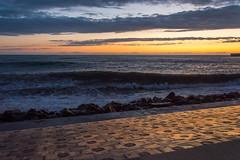 DSC_0244 (sergeysemendyaev) Tags: sunset sea storm beach spring warm waves russia dusk adler atthebeach seashore blacksea seacoast bigwaves sochi  2016                 duringf1 1 duringformulaone