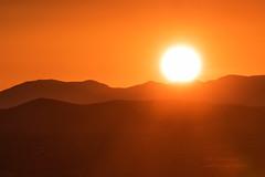 Sol (inlightful) Tags: sunset red sky orange sun hot newmexico southwest sol sunshine weather sunrise solar desert sunny heat solarpower sweltering quebradas