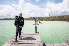 """Diver (""""Alice in Wonderland"""") Tags: mexico kiss pelican diver sinkhole rebreather ccr kaanluum"""
