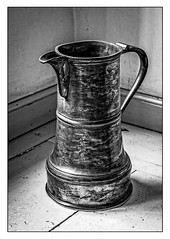 Kitchen jug, Hardwick Hall (A.I.D.A.N.) Tags: hardwick hall hardwickhall blackwhite jug kitchen canon 40d scratched aged elegant elegance object objects nationaltrust bessofhardwick arbella canon40d kitchenalia corner canoneos handle spout ewer worktop water milk pour metal stilllife