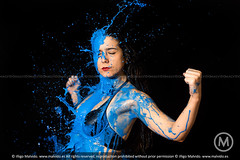 Xina (Iigo Malvido) Tags: madrid blue rock metal azul milk splash leche xina oker vallekas metalqueen malvido metaldrako