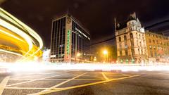 Painting the street (David Ramalho) Tags: street camera longexposure ireland dublin night canon heineken lights town exposure downtown transport streetphotography trails nighttime lighttrails hotcold