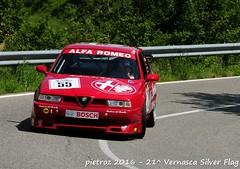DSC_6545 - Alfa Romeo 155 1.8 TS Gr D2-ST - 1993 - Papaux Jean Luc - del Portello (pietroz) Tags: silver photo foto photos flag historic fotos pietro storico zoccola 21 storiche vernasca pietroz