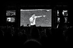 Over And Out (Claus Tom) Tags: street blackandwhite bw port copenhagen denmark evening harbor marine candid soccer streetphotography transportation cph em uefa kbenhavn islandsbrygge em2016 uefaeuro2016