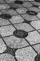 Sidewalk pattern (Thad Zajdowicz) Tags: pattern texture sidewalk path shapes lines angles geometric monochrome blackandwhite black white bw outdoor outside zajdowicz sanmarino california canon eos 5dmarkiii dslr digital availablelight daylight huntingtonbotanicalgardens lightroom abstract diagonal fineart