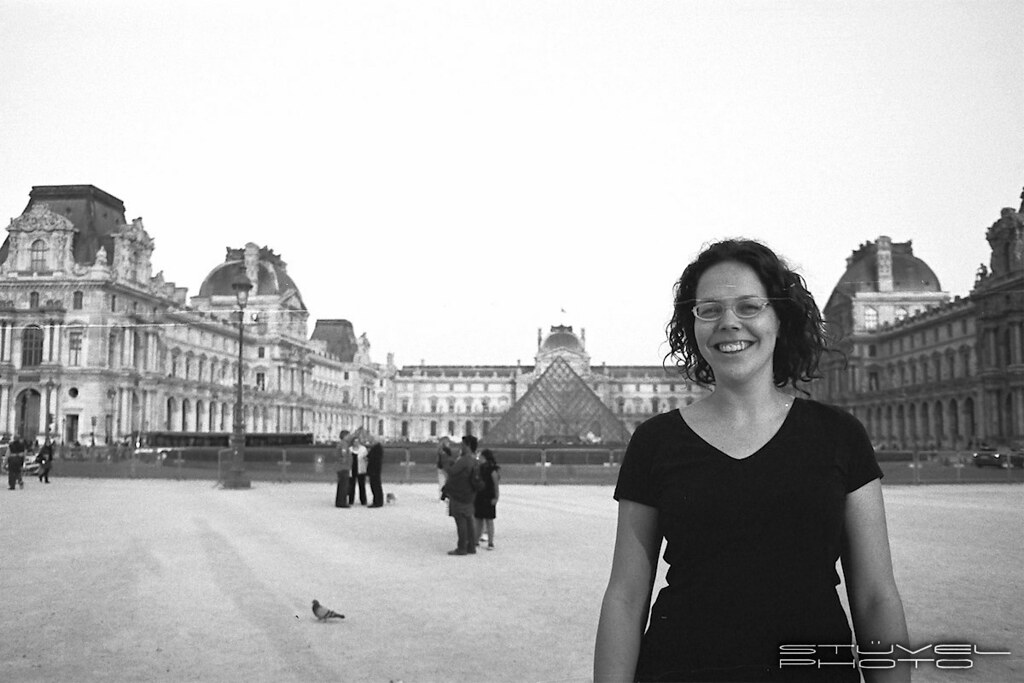 Marit at the Louvre