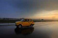 126 Happy End No. 0081 (syndrom) Tags: road sunset wet rain happy highway ride fiat joy poland polska autobahn rainy end 650 fsm slippery 126 autostrada maluch 126p may