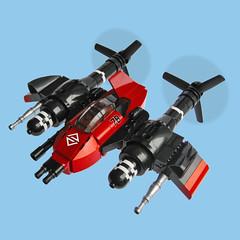 Tsubame Zero - Sky Fighter (Fredoichi) Tags: plane lego space military micro shooter shootemup skyfi shmup microscale dieselpunk skyfighter fredoichi