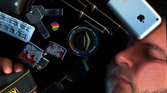 FACE. (dotcx) Tags: portrait apple beard macintosh glasses rainbow hp minolta scanner tag refraction scanjet pens fx lacie montblanc zippo lenses scanography iphone valium medicated diazepam rokkorx d700 lenscoating