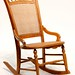 136. Antique Cane Rocking Chair