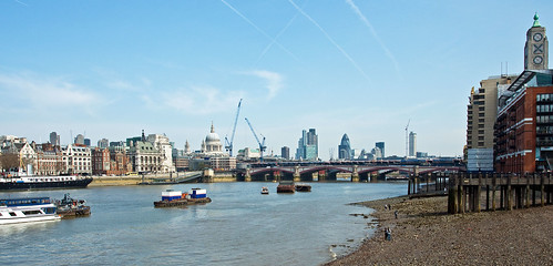 L is for... low tide in London