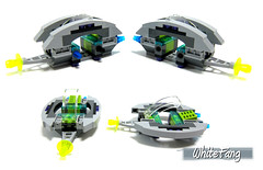 Different views of the UFO Small Crafts (WhiteFang (Eurobricks)) Tags: green lego space alien review jet ufo helicopter marines defence conquest unit adu eurobricks