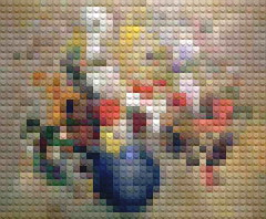 redon (William Keckler) Tags: lego optical vision legos closeness distance pixels arthistory mutation interpretation opart rectilinear legoart opticalart legopainting legohistoryofart