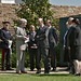 HRH the Duke of Kent meets Tony Hall outside the Bob and Tamar Manoukian Production Workshop © Simon Fowler/ROH 2012