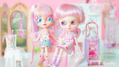 the pink studio (launshae) Tags: pink cupcakes room blythe tassels megipupu launshae