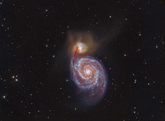 The Whirlpool Galaxy M51 LRGB + HA (Terry Hancock www.downunderobservatory.com) Tags: camera sky color monochrome wheel night stars spiral photography mono pier backyard fotografie photos space ngc shed science images astro observatory telescope filter whirlpool galaxy canes astronomy imaging ha alpha messier ccd universe cosmos technologies hydrogen paramount luminance the teleskop astronomie byo deepsky 51a 5194 ngc5195 venatici starlightxpress flattener astrotech Astrometrydotnet:status=solved qhy5 Astrometrydotnet:version=14400 mks4000 qhy9m gt110s 10f8ritcheychrtienastrographat2field Astrometrydotnet:id=alpha20120530996252