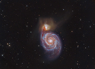 The Whirlpool Galaxy M51 LRGB + HA