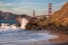 There are eight million shots of the golden gate bridge ... (pixelmama) Tags: sanfrancisco california beach sand surf waves pacificocean goldengatebridge splash bakerbeach doh ggb hss exposureblending eightdaysaweek ihatewhenidothat pixelmama sliderssunday howmanyshotsdidyoutakeirene sorryideletedtheoriginals