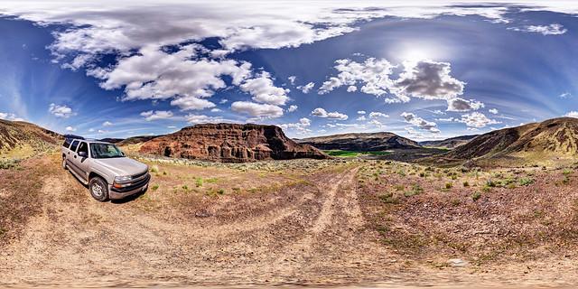 panorama clouds landscape washington desert wa washingtonstate stitched 360x180 basalt ptgui equirectangular photomatix mosescoulee canon15mm nodalninja3 douglascreek lakemissoulafloods canon5dmk2 garretveley glaciallakemissoulafloods promotecontrol slackcanyonroad chevroletsuburban2004
