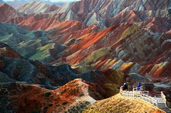 Danxia Landform   (Melinda ^..^) Tags: china morning color nature colorful mel land layers melinda gansu  landform  danxia    chanmelmel danxialandform