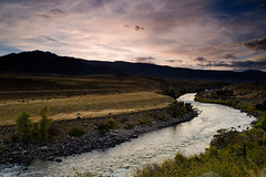 Gardner River (bhophotos) Tags: travel sunset usa mountains nature night clouds river landscape geotagged nikon montana yellowstonenationalpark gardiner bestwestern ynp 28mmf2ai gardnerriver d700 bruceoakley autumnhotel projectweathercloudy