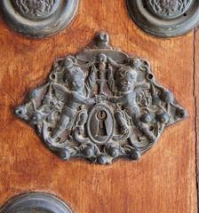 Archbishop's Palace (Justin__Case) Tags: door wood espaa angel sevilla spain angeles lock 5 sony feria seville andalucia angels palais andalusia espagne flamenco andalousie palacio archbishop nex arzobispal nex5