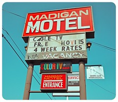 Madigan Motel () Tags: usa color history classic sign club america photography washington tv discount cool interesting highway state pacific northwest image good united picture free motel cable historic retro nostalgia international vision photograph 99 sound nostalgic americana local states roadside googie weekly vacancy hbo diners puget rates calls midcentury deals madigan