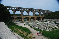 Pont Du Gard (Let Ideas Compete) Tags: travel vacation france river french europe european roman du aqueduct southern pont provence pontdugard aquaduct gard 2012