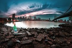 Her Canvas (bijoyKetan) Tags: she new york film colors brooklyn is cross dumbo her canvas processing mysterious blissful bijoyketan rokinon8mmmanualfisheye ketanbd
