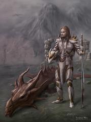 Dragon Slayer (Yeshua Nel) (unnamedArt) Tags: art fan dragon jethro sword slayer unnamed armour yeshua nel skyrim