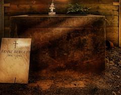 Graveless Gravestone at a Water Well at Central Cemetery Vienna - Zentralfriedhof Wien - for Sascha (hedbavny) Tags: wien friedhof cemetery graveyard sterreich decay brunnen tombstone well schild gravestone grabstein holz stein zentralfriedhof blumentopf wasserhahn wasserleitung verfall christlich jdischerfriedhof zentralfriedhofwien steinbrunnen steinbecken centralcemeteryvienna nutzwasser nutzwasserkeintrinkwasser jidisch alterjdischerfriedhofwellwater
