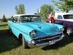 57 Chevrolet Bel Air (DVS1mn) Tags: new cruise london cars chevrolet car minnesota night gm may bowtie chevy seven 1957 aw 57 nineteen count 2012 fifty generalmotors chevies kandiyohi nineteenfiftyseven