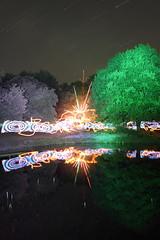 145/366 - Fire, LEDs, Fireworks, Pond (tackyshack) Tags: light lightpainting reflection fountain painting pond mask lp paintingwithlight dlw lightpainter leapyear fiyah lightphotography project366 lightjunkie tackyshack woolspin tackymask rokinon14mm28 digitallightwand ©jeremyjackson