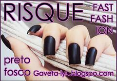 GAVETA LYU | Esmalte Risque | Fast Fashion 01 | Preto Fosco (Gaveta Lyu) Tags: polish nails unhas risque fosco esmalte