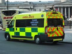 TAS T2 (kenjonbro) Tags: uk england london yellow fiat trafalgarsquare ambulance 35 charingcross t2 2010 sw1 160 lwb ducato hs10 mjet kenjonbro thamesambulanceservice fujihs10 lj60fzy