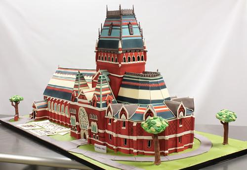 Harvard University Memorial Hall Cake