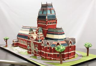 Harvard Memorial Hall Cake