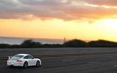 The Road to a Beautiful Nowhere. (AESDUB) Tags: california sunset white 3 dark t highway g 911 route 101 porsche gt cocaine gt3